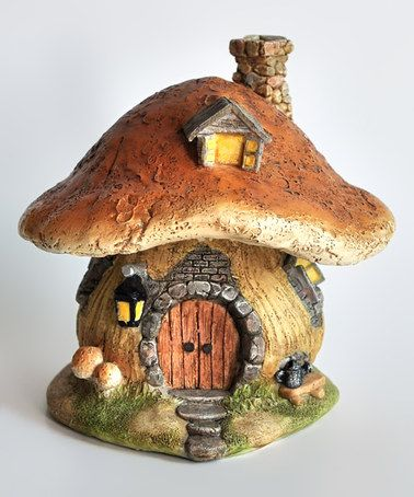 Look what I found on #zulily! Brown Mushroom Fairy House Décor #zulilyfinds