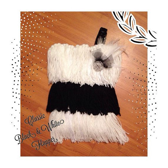 Vintage Flapper dress, black and white flapper dress, baby flapper dress on Etsy, $35.00