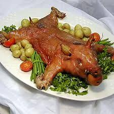 Helstegt pattegris,suckling pig ,roasted suckling pigs,Food Diner at http://www.fest-diner.dk/