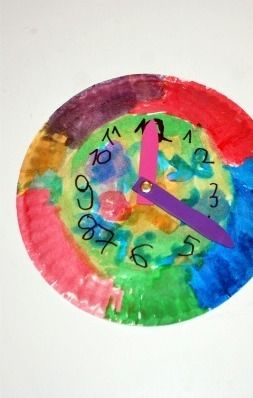 Paper Plate Clocks Craft For kids