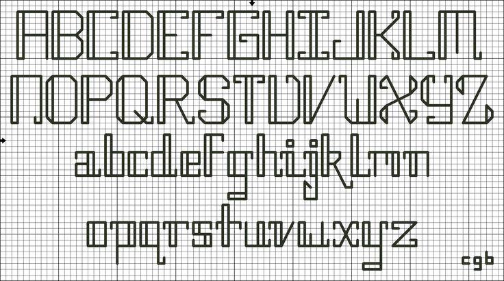 Free backstitch alphabet pattern #stitching