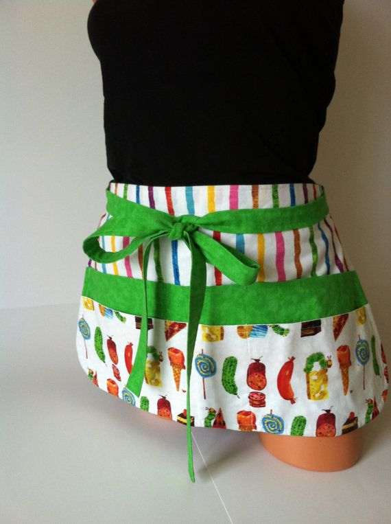Teacher Apron  Eric Carle inspired The Very Hungry by mizzeztee