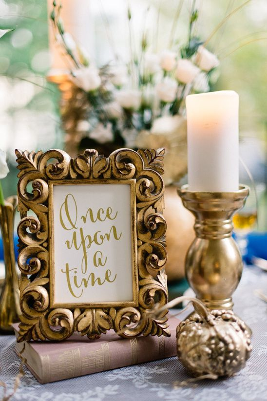 Because aren't all fairy tales gilded in gold? #fairytalewedding #weddingideas #weddingstyle