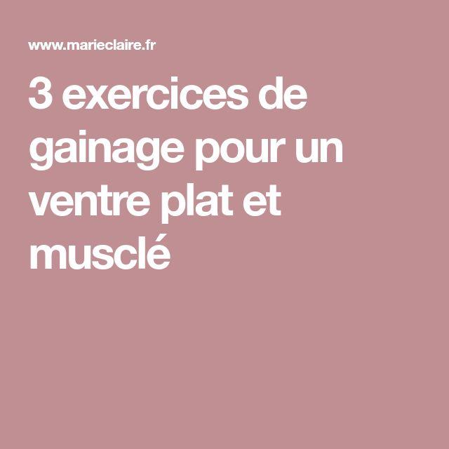 3 exercices de gainage pour un ventre plat et musclé