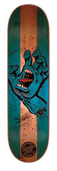 Santa Cruz Skateboards: Decks: 8.375in x 32in Stained Hand Deck