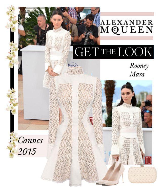 """Cannes 2015:Rooney Mara- Alexander McQueen"" by bodangela ❤ liked on Polyvore featuring Alexander McQueen"