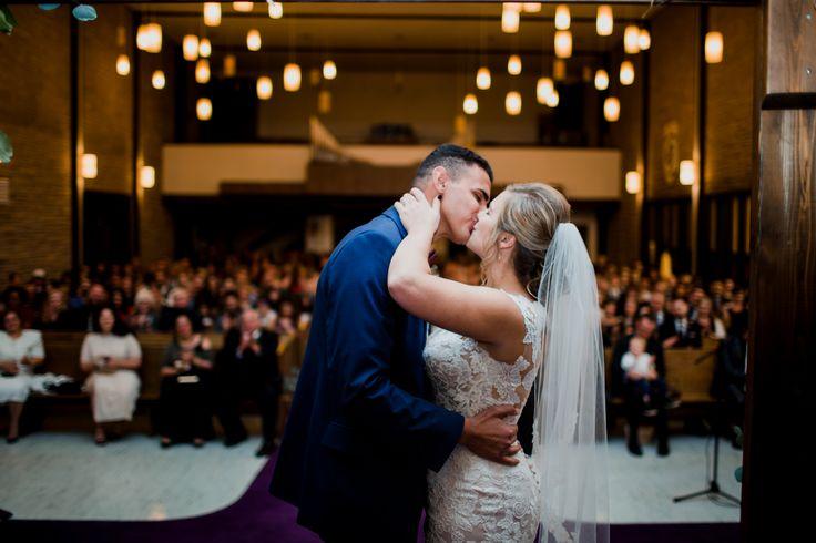 First kiss   Winnipeg Wedding Photography   CK Clicks Photography   www.ckclicksphotography.com  