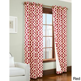 trellis printed thermal insulated curtain panel pair shopping great deals on printed curtainsred
