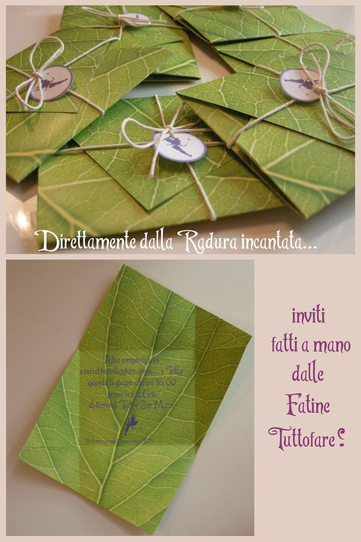 Tinkerbell Party invitations, inviti Trilly