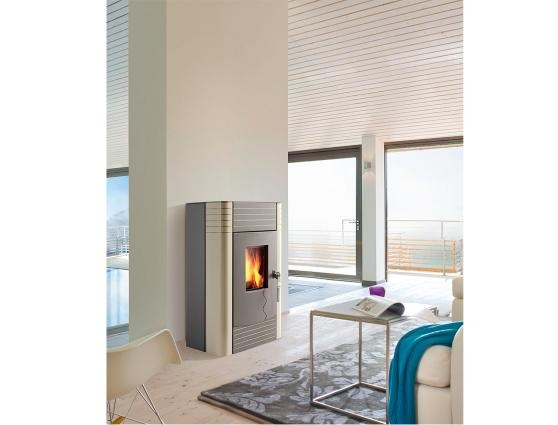 Automated wood pellet stove interior spaces pinterest pellet stove wood pellets and cleanses - Pellet stoves for small spaces set ...