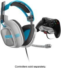 Astro Gaming - A40 Wired Stereo Gaming Headset for Xbox One - Gray/Blue - Larger Front