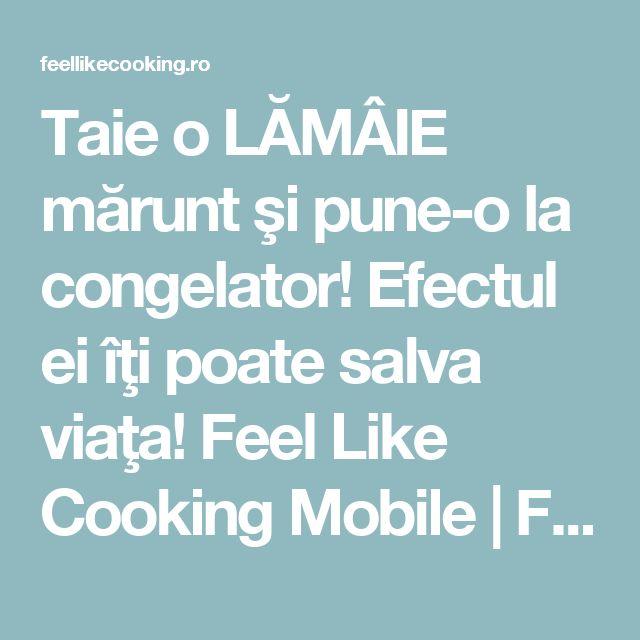 Taie o LĂMÂIE mărunt şi pune-o la congelator! Efectul ei îţi poate salva viaţa! Feel Like Cooking Mobile | Feel Like Cooking