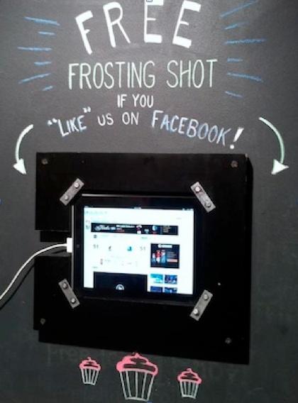 So far, my favorite integration of social media and ipad.