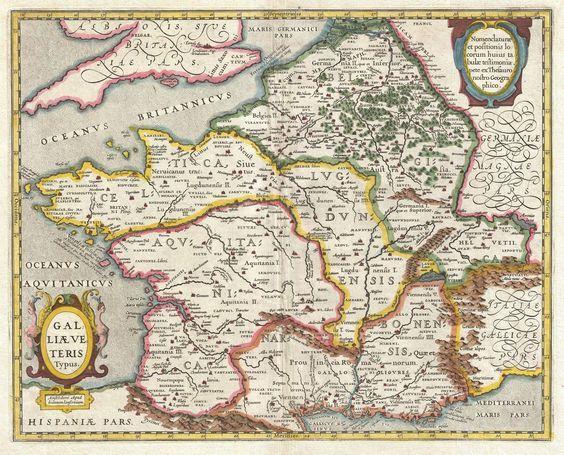 carte de la gaule romaine (Johannes Janssonius 1657)
