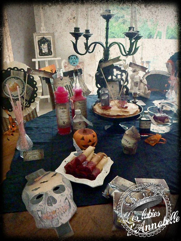 Décorations d' Halloween plastifiées réutilisables style rétro vintage