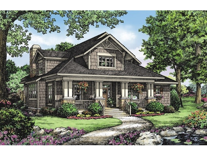 68 best cottage style images on pinterest craftsman for Eplans craftsman bungalow 11192