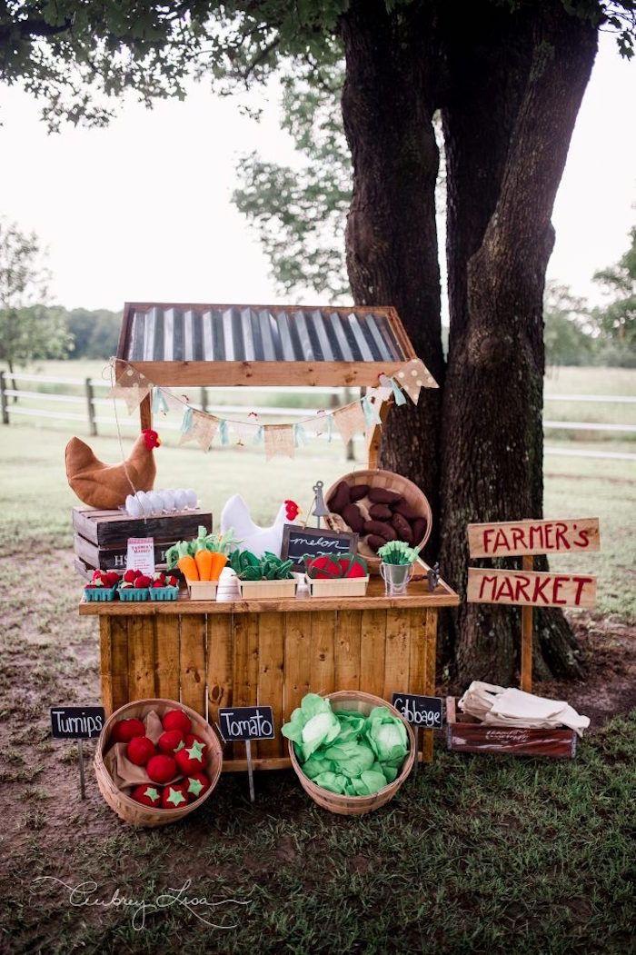Farmer's Market Birthday Party on Kara's Party Ideas | KarasPartyIdeas.com (33)