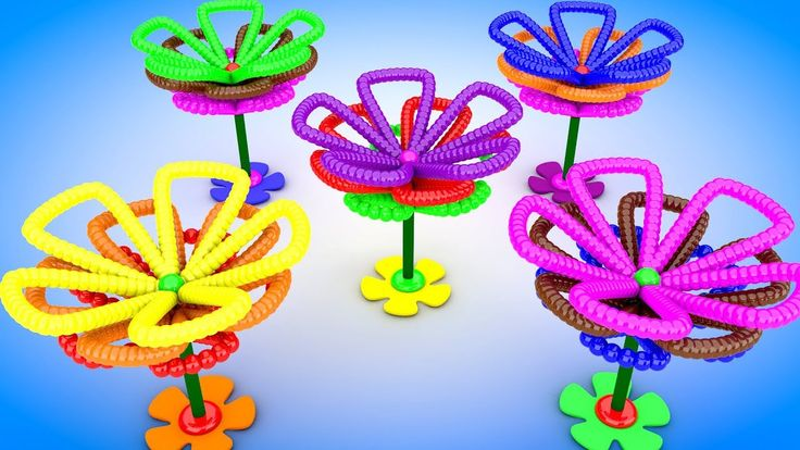 Learn Colors with A lot of 3D Color Balls Forming Flowers for Kids Child...