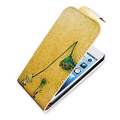 Seedpod of the Lotus Pattern Up-Down Turn Over PU Leather Full Bady Case for iPhone 5/5S – EUR € 6.43