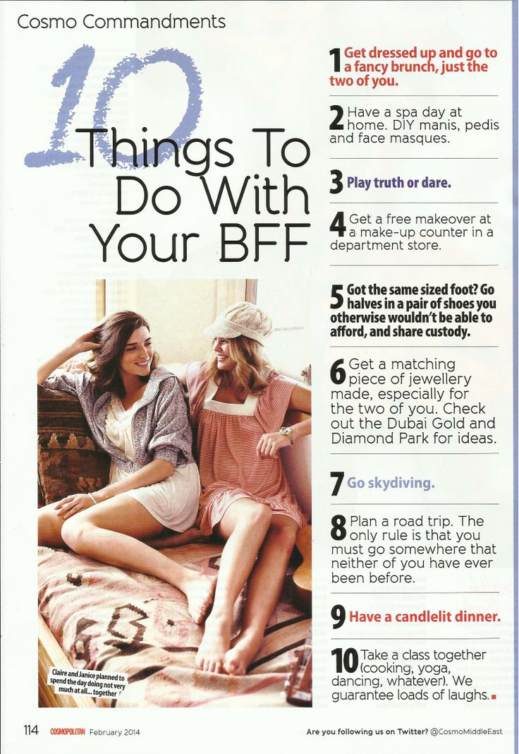 10 things to do with your bff cosmo me bucket list pinterest bff and cosmos. Black Bedroom Furniture Sets. Home Design Ideas