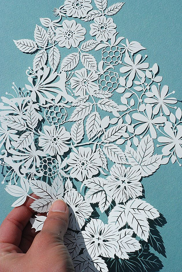 This floral papercut by Dutch illustrator Geertje Aalders is breathtakingly beautiful