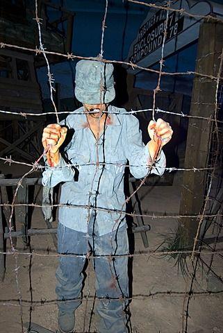 Prisoner replica at the Prisoner of War Camp museum, Geoje-Do Park, South Korea, Asia