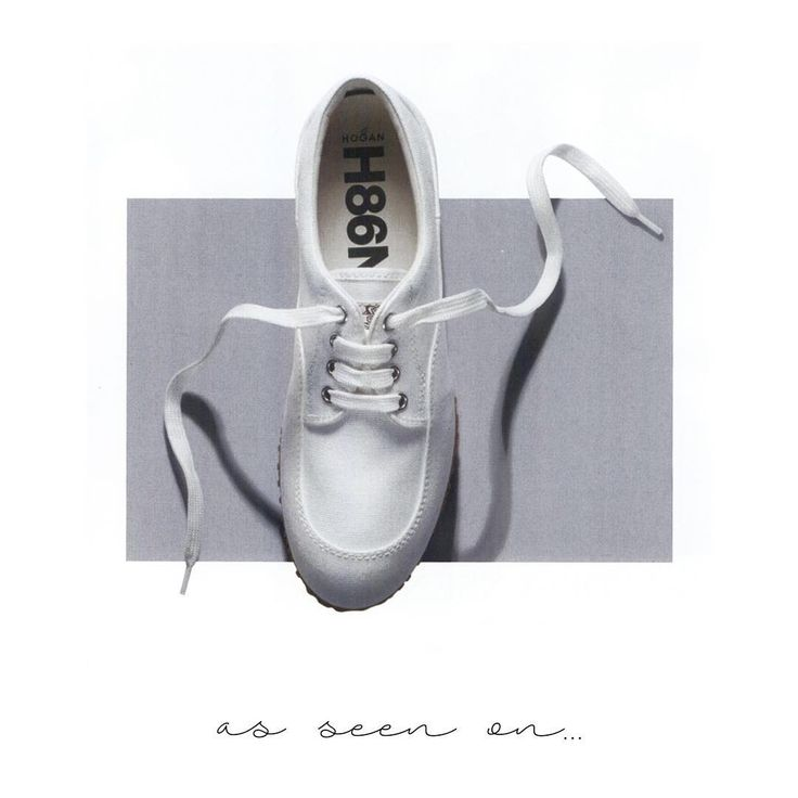 The pure white #HOGAN Traditional #sneakers as featured in @amicamagazine