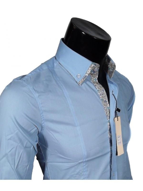 Camicia Classica Slim Fit colori bianco, grigio, celeste e blu,