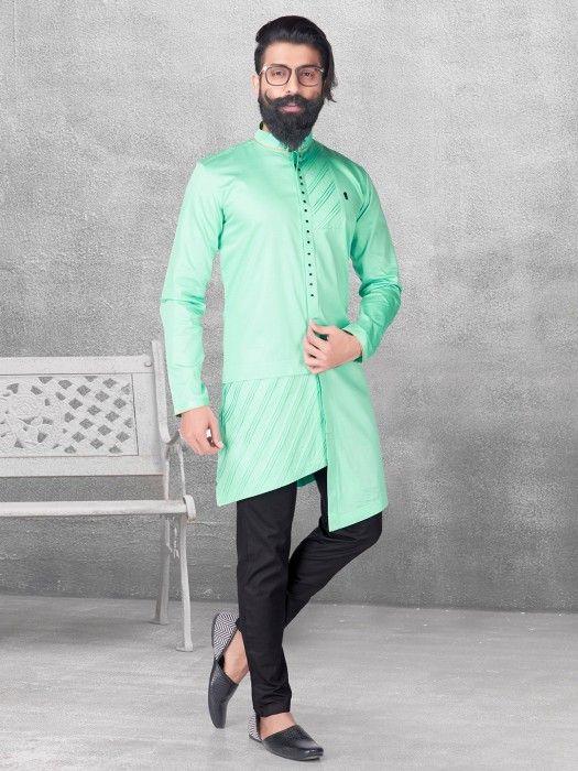 d73634de94 Light Green Silk Kurta Suit, kurta for men, kurta suit, pathani kurta,