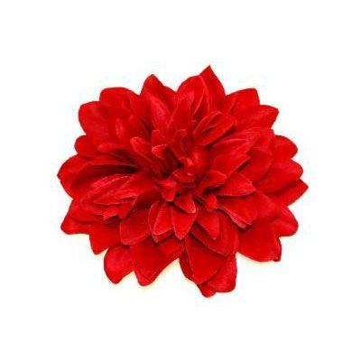 Chrysant bloem haar accessoire op haarclip rood - Vintage Rockabilly