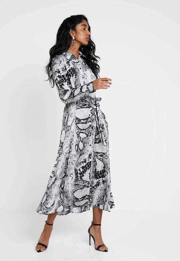 e7323791d BXHILDA DRESS - Długa sukienka - grey @ Zalando.pl 🛒 w 2019 | Wzory ...