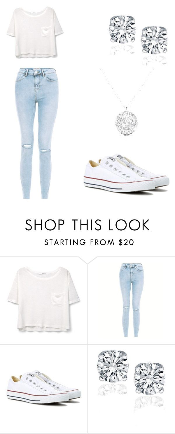 """Cute summer outfit"" by mercy11 ❤ liked on Polyvore featuring MANGO and Converse"