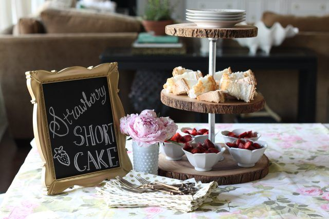 This article shows you how to easily create a three tiered serving tray using rustic wood slices and a few basic plumbing supplies.