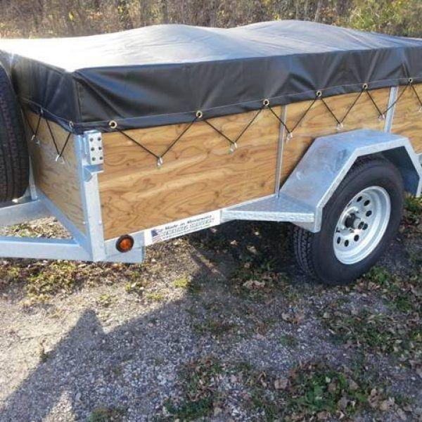 5x8 galvanized utility trailer-04 #KayakTrailer