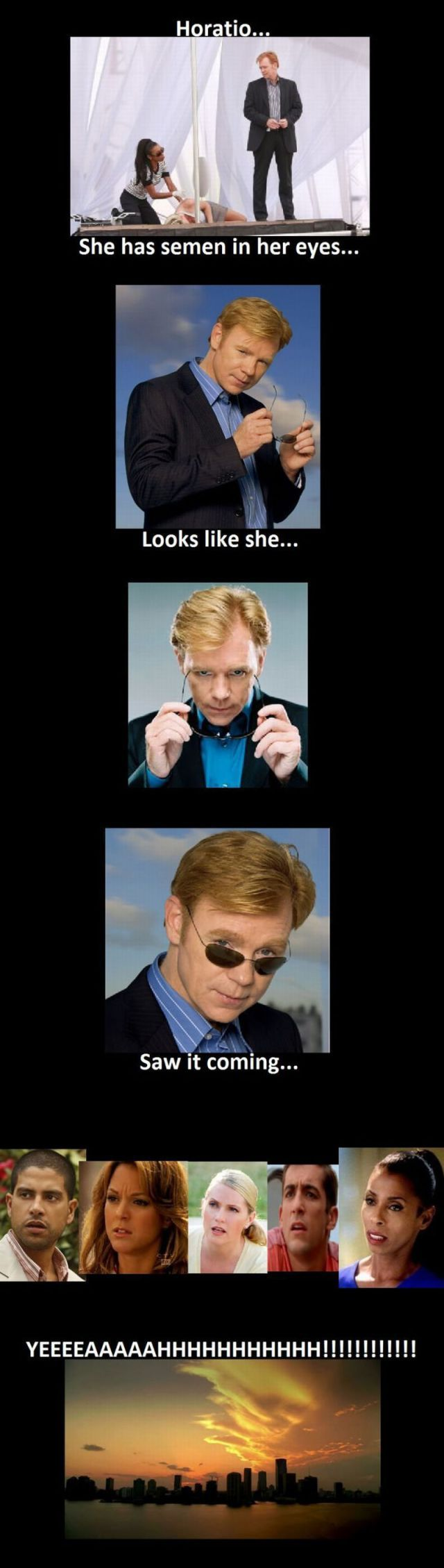 lolz my family ALWAYS makes fun of horatio's Glasses-move-and-i-never-look-at-who-im-talking-to bit.