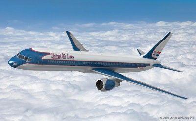 ユナイテッド航空 機体デザイン