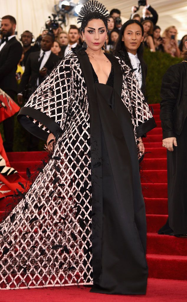 WORST: Lady Gaga in Balenciaga. I don't like it because she looks like a fat asian king