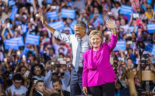 2016 hillary clinton | Hillary Clinton campaigns with Barack Obama in Charlotte, North ...
