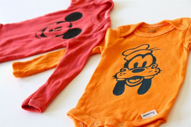 dyed onsies & freezer paper transfers