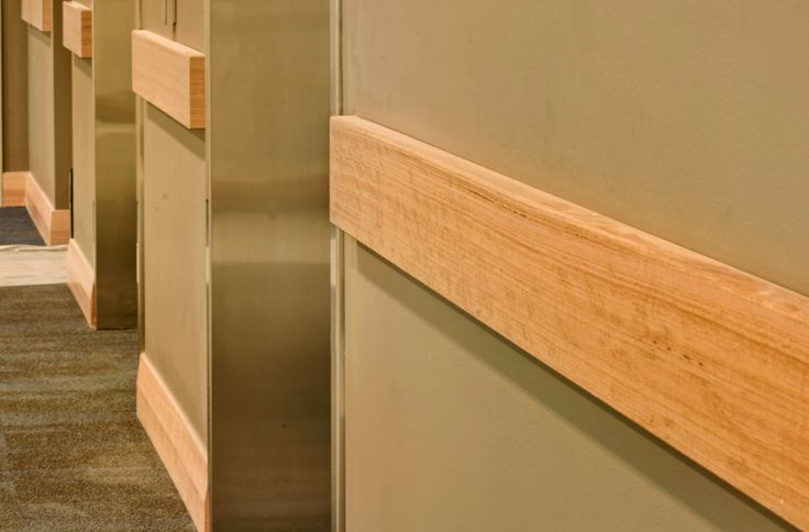 Intrim provided clear coat paint finished Victorian Ash Bump Rail BR04, Victorian Ash 40mm Dowel ConnectaRail Handrail System and Victorian Ash Skirting Boards SK40B to help achieve a stylish look while offering the Australian Standard functional handrail. Forestry Certified timber was used, keeping in tune with the environmental considerations of the build.