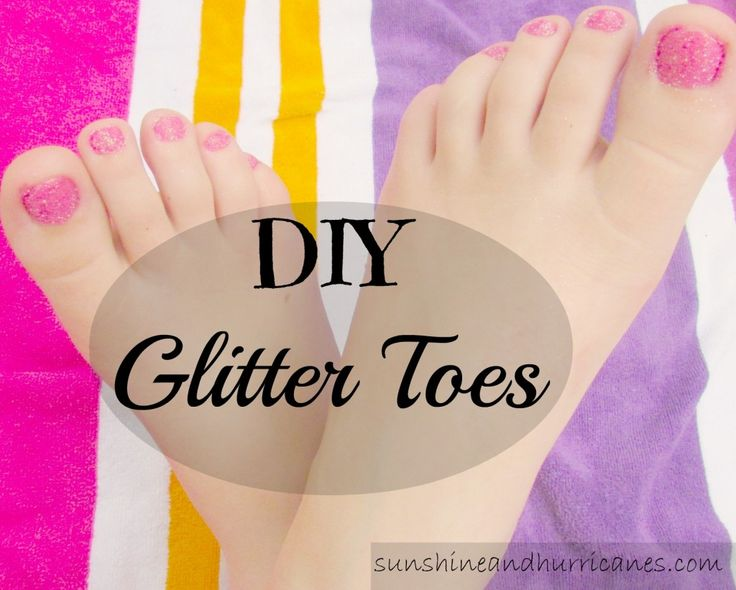 DIY Glitter Toes – Quick and Easy Sparkly Nails That Will Last for Weeks