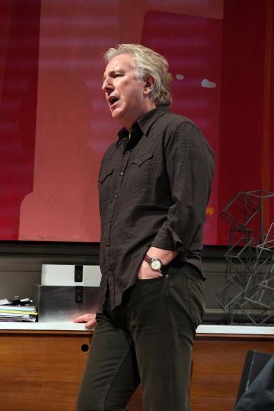 "Alan Rickman played a tough teacher in Theresa Rebeck's Broadway play ""Seminar."" 2011"