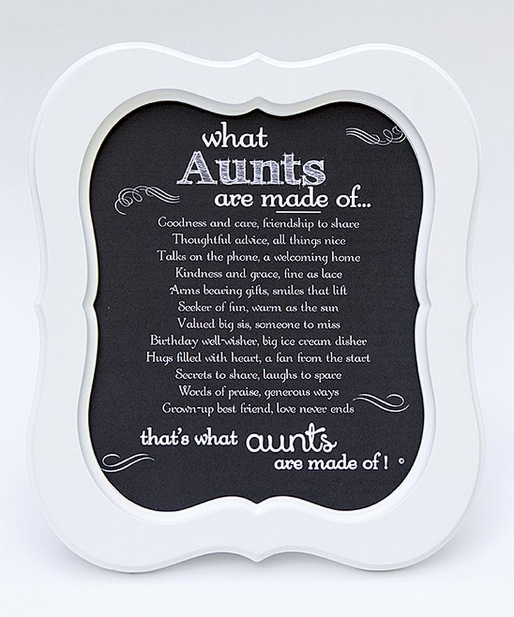 Love this The Grandparent Gift Co. White 'What Aunts Are Made Of' Scallop Framed Print by The Grandparent Gift Co. on #zulily! #zulilyfinds
