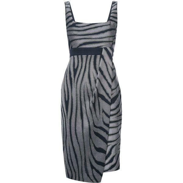Kimora Lee Simmons zebra print dress ($1,295) ❤ liked on Polyvore featuring dresses, black, zebra print dresses, zebra stripe dress, zebra dresses and zebra striped dresses