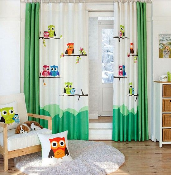 Kids will like these pretty curtains!