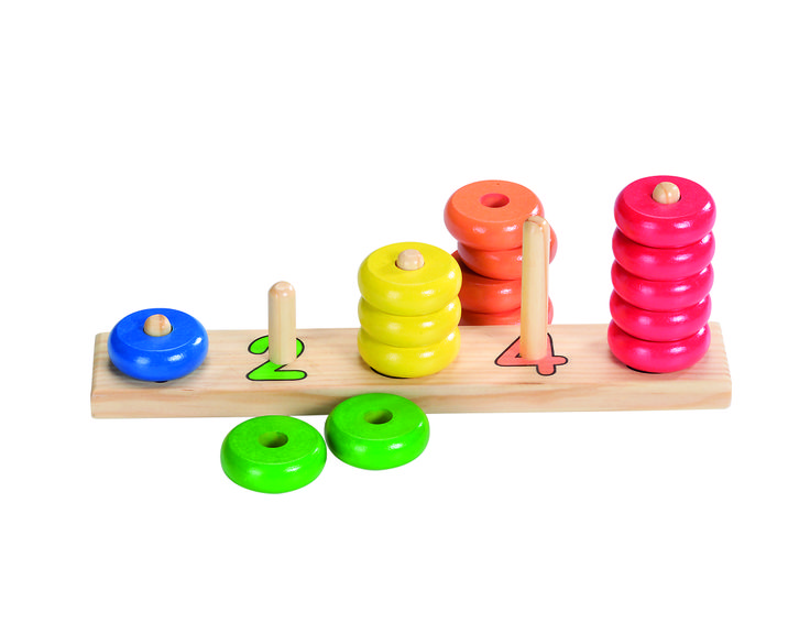 Natural and high quality toys to the development of the skills of children. Sort colours and shapes