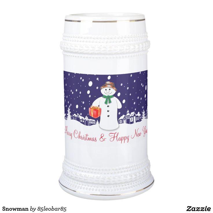 Snowman Beer Stein