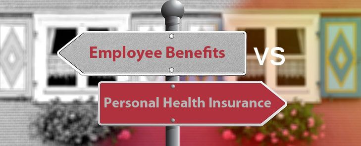 Here's a handy comparison of employee benefits and personal health insurance plans!