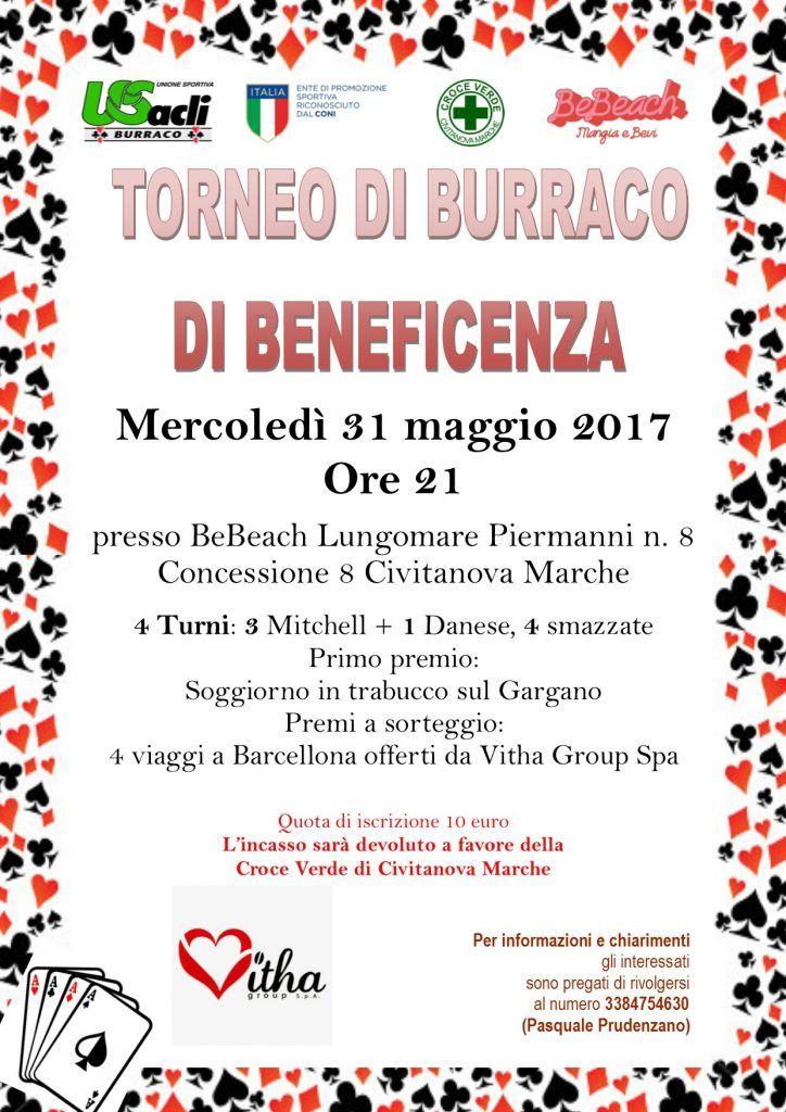 Torneo benefico di burraco a Civitanova Marche