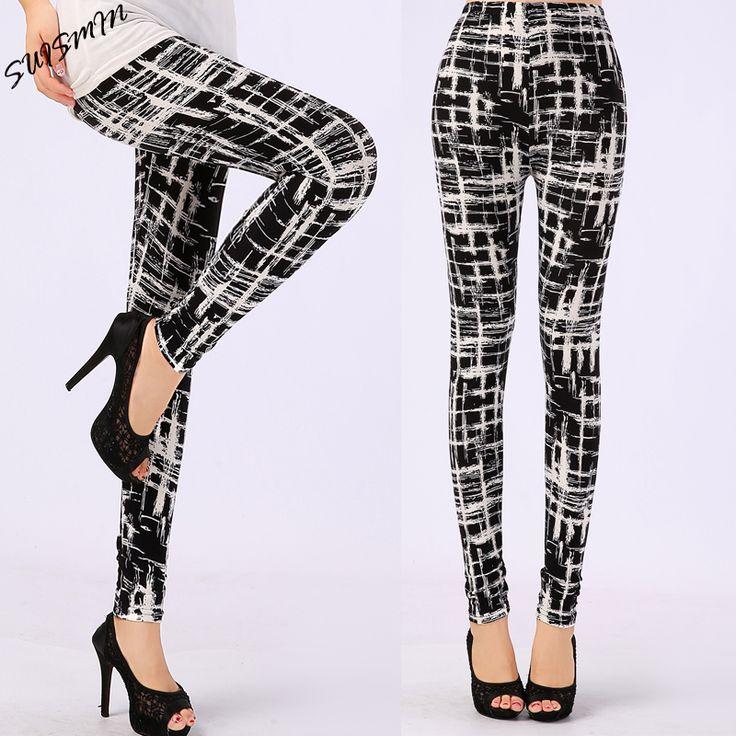 New 2016 Women Leggings Pantalones Black Milk Print Leggings Summer Style Soft Skin Material Nine Women Leggins *** Click the image to view the details